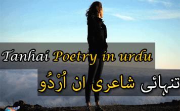 tanhai poetry in urdu - Shayari